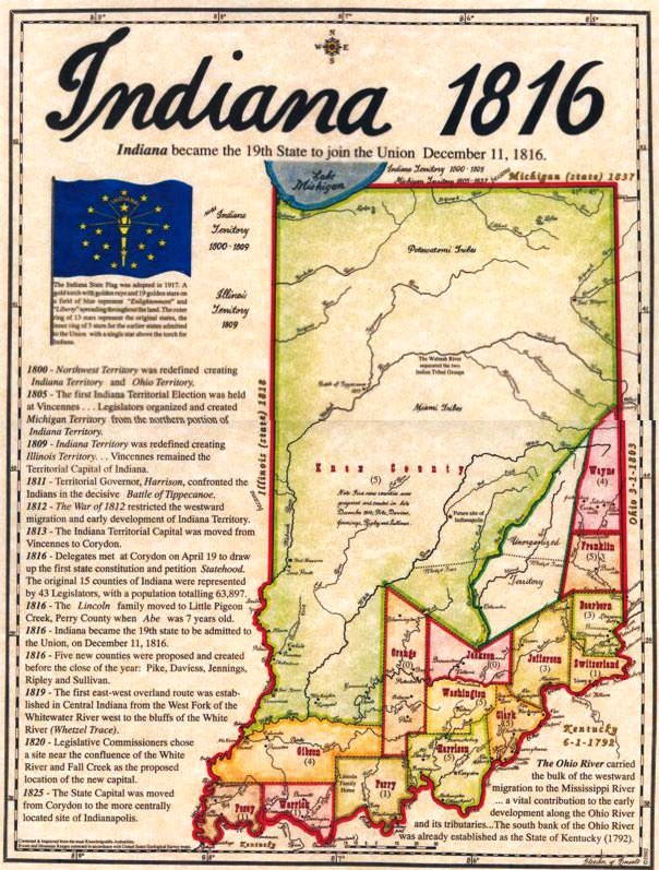 Indiana State History for 3rd – 6th grades (Spring Semester)